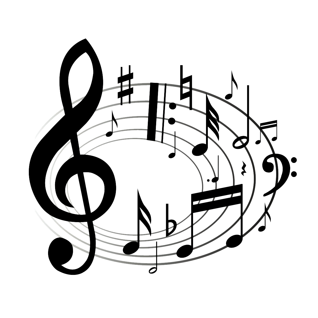 Christmas music clipart black and white graphic free stock Music Notes Clipart Black And White | Clipart Panda - Free Clipart ... graphic free stock
