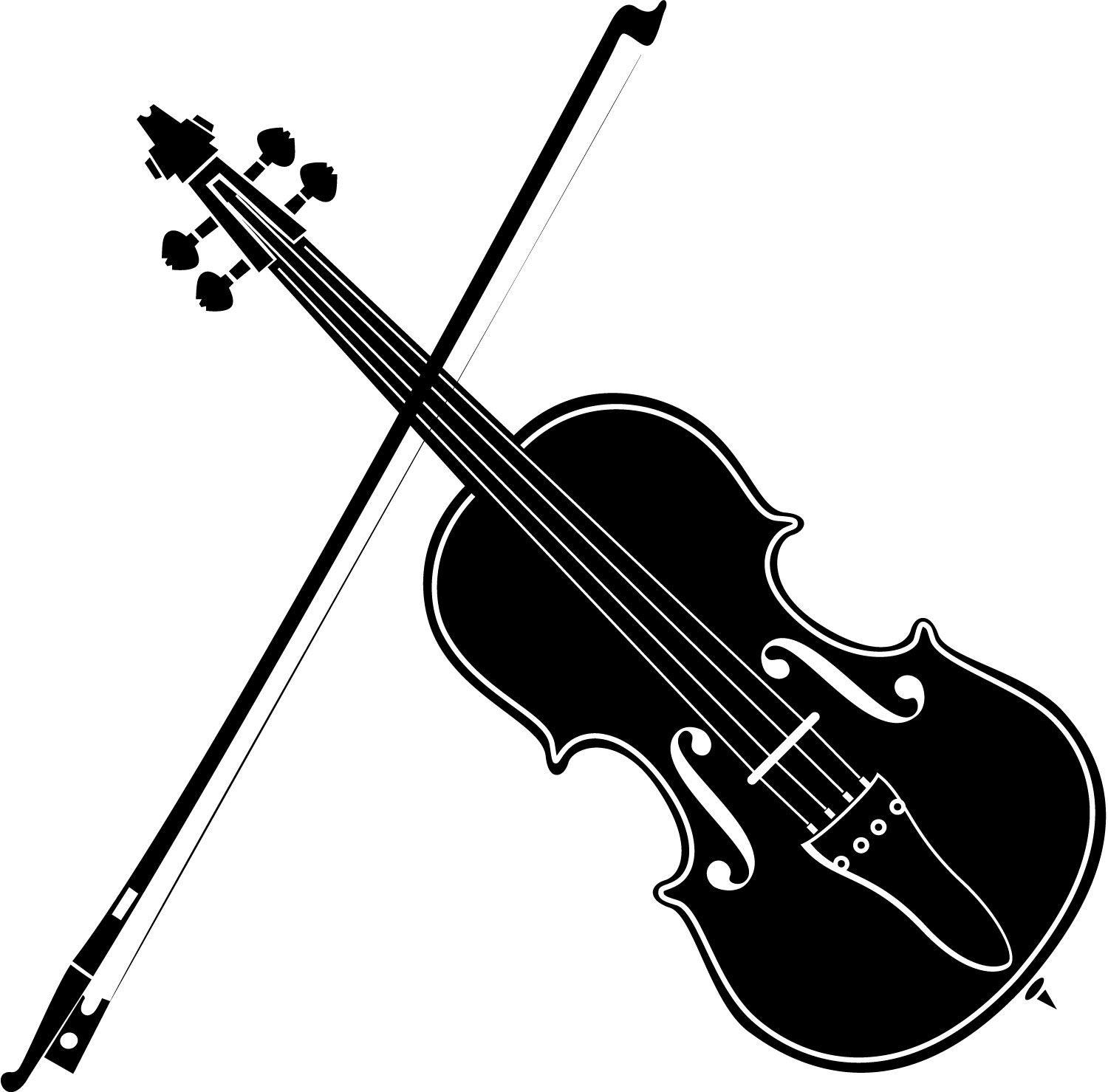 Violinn music note clipart clip art black and white download Playing Violin Clipart Black And White | Clipart Panda - Free ... clip art black and white download