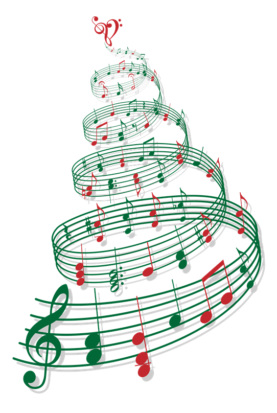 Christmas music note clipart clip royalty free library Merry Christmas from All Star Financial | All Star Financial clip royalty free library