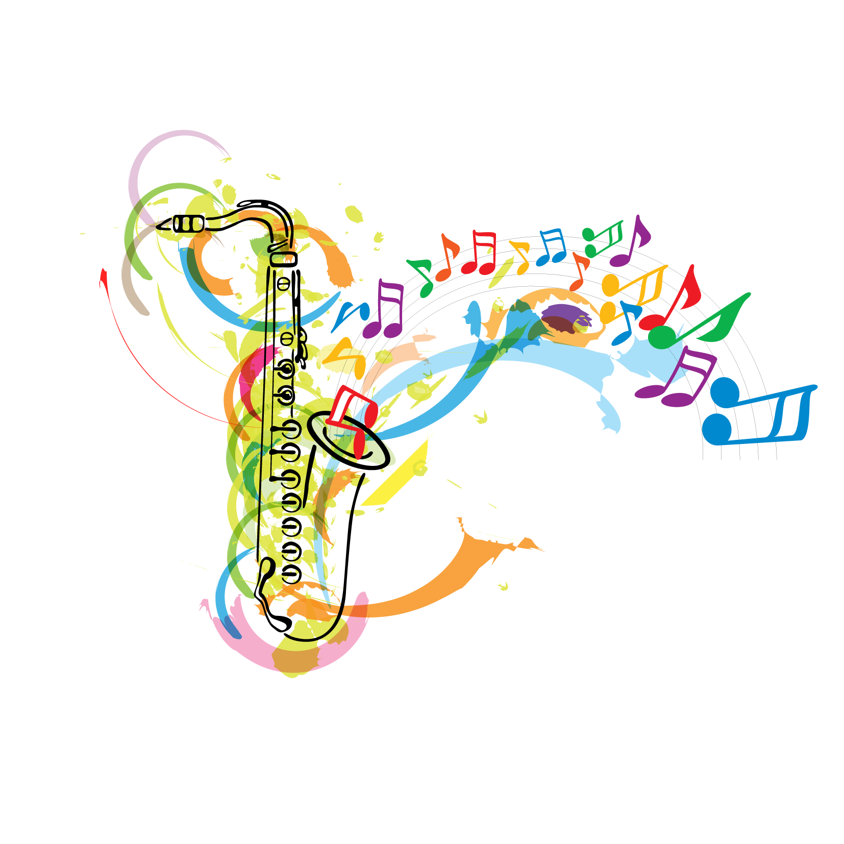 Christmas music notes clipart graphic download Saxophone Musical note Clip art - Instrument free download 1654*1654 ... graphic download