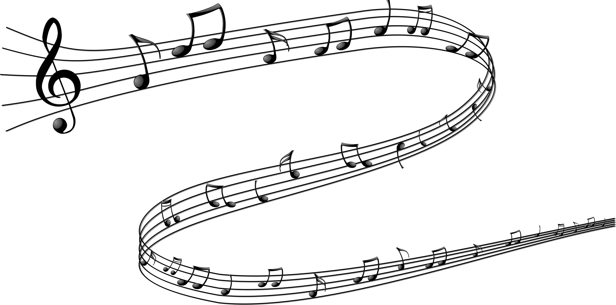 Christmas musical notes clipart svg freeuse library Musical Notes PNG Transparent Musical Notes.PNG Images. | PlusPNG svg freeuse library