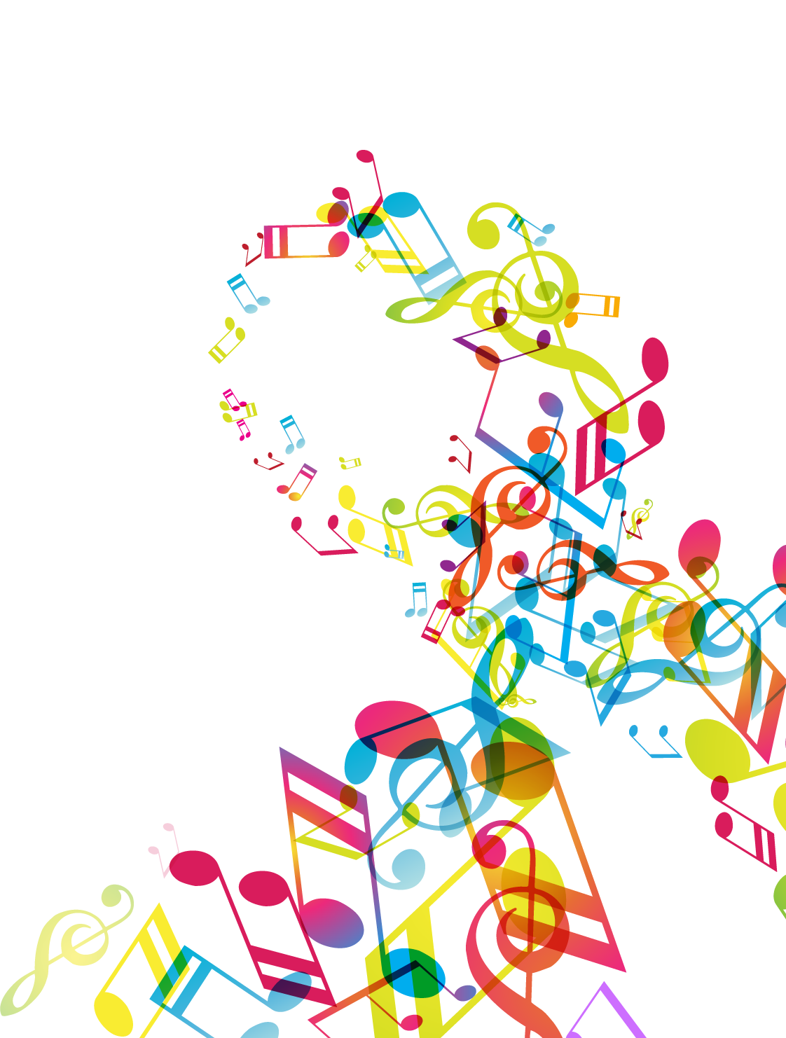 Christmas musical notes clipart vector transparent Musical note Download Clip art - Music notes poster 1122*1482 ... vector transparent