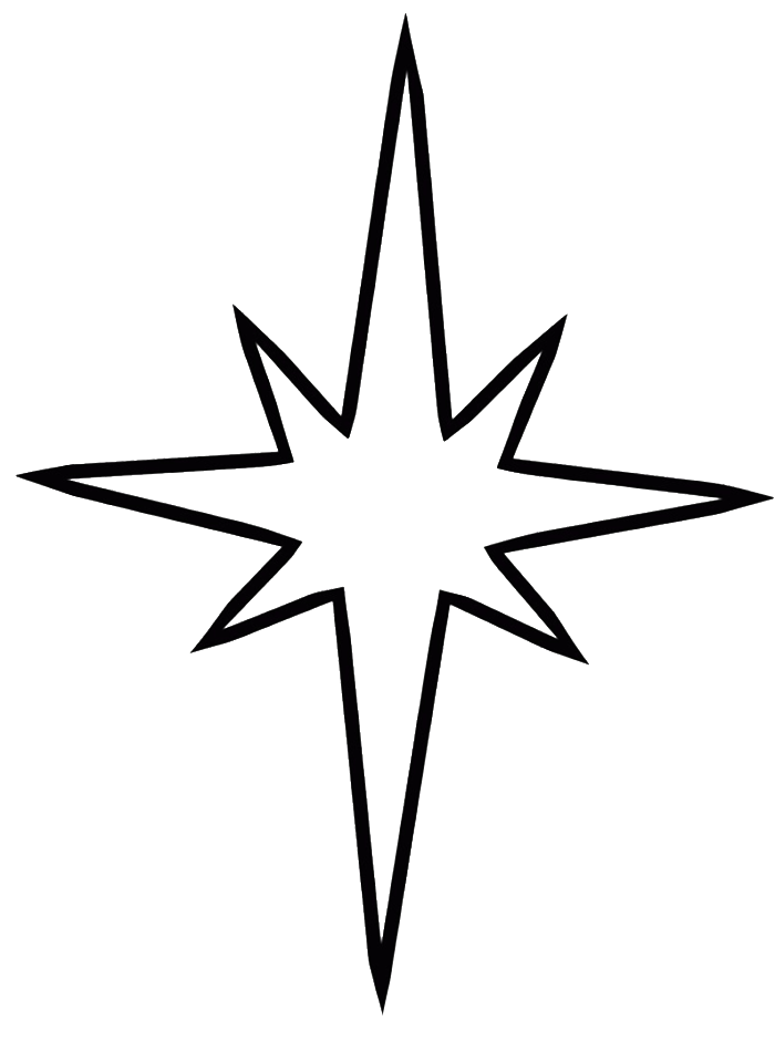 Star of bethlehem clipart free picture black and white library Christmas clipart black and white simple star picture black and white library