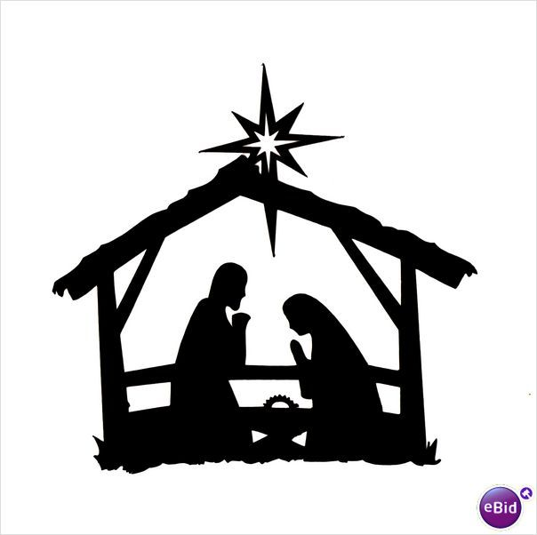 Christmas nativity clipart black and white free clipart free library 10 x \
