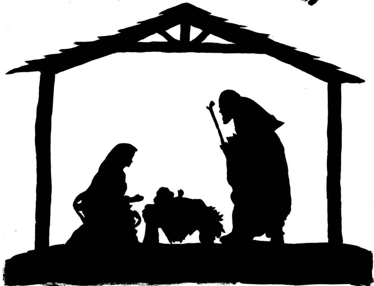 Nativity scene clipart black white vector royalty free download Free Clipart Nativity Scene | Free download best Free Clipart ... vector royalty free download