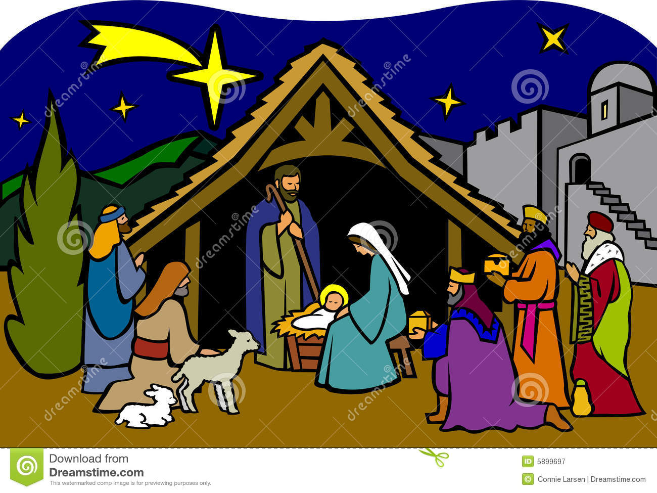 True meaning of christmas clipart clipart transparent library Christmas nativity clipart 5 » Clipart Station clipart transparent library