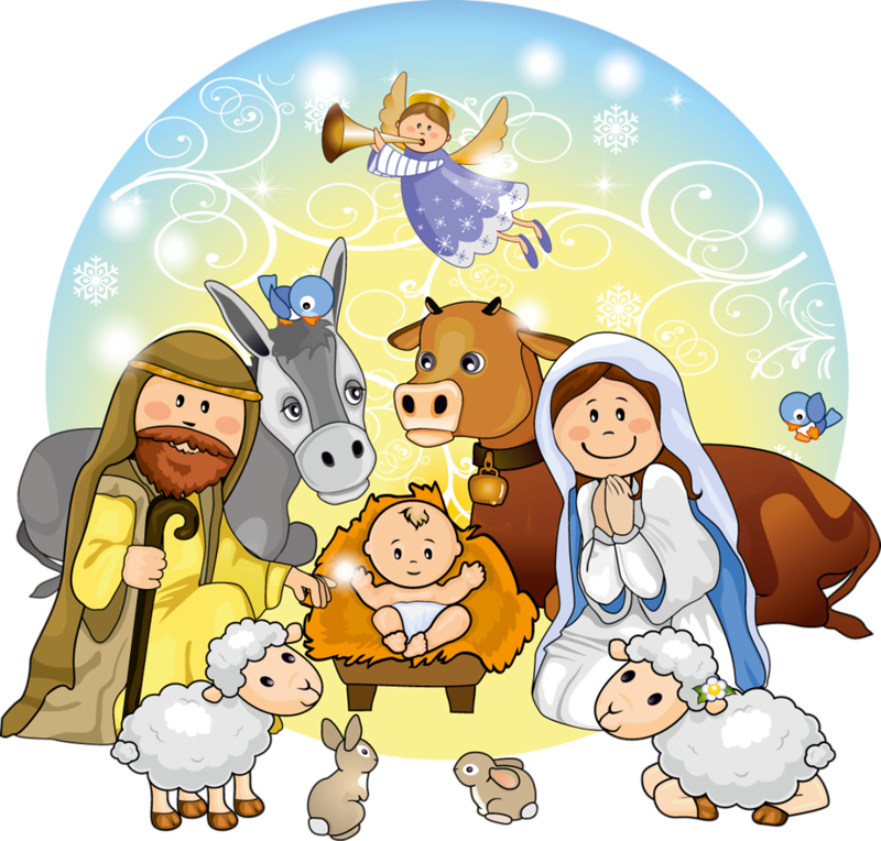Nativity cartoon clipart vector royalty free download Christmas Nativity Clipart 1 - 800 X 764 - Making-The-Web.com vector royalty free download