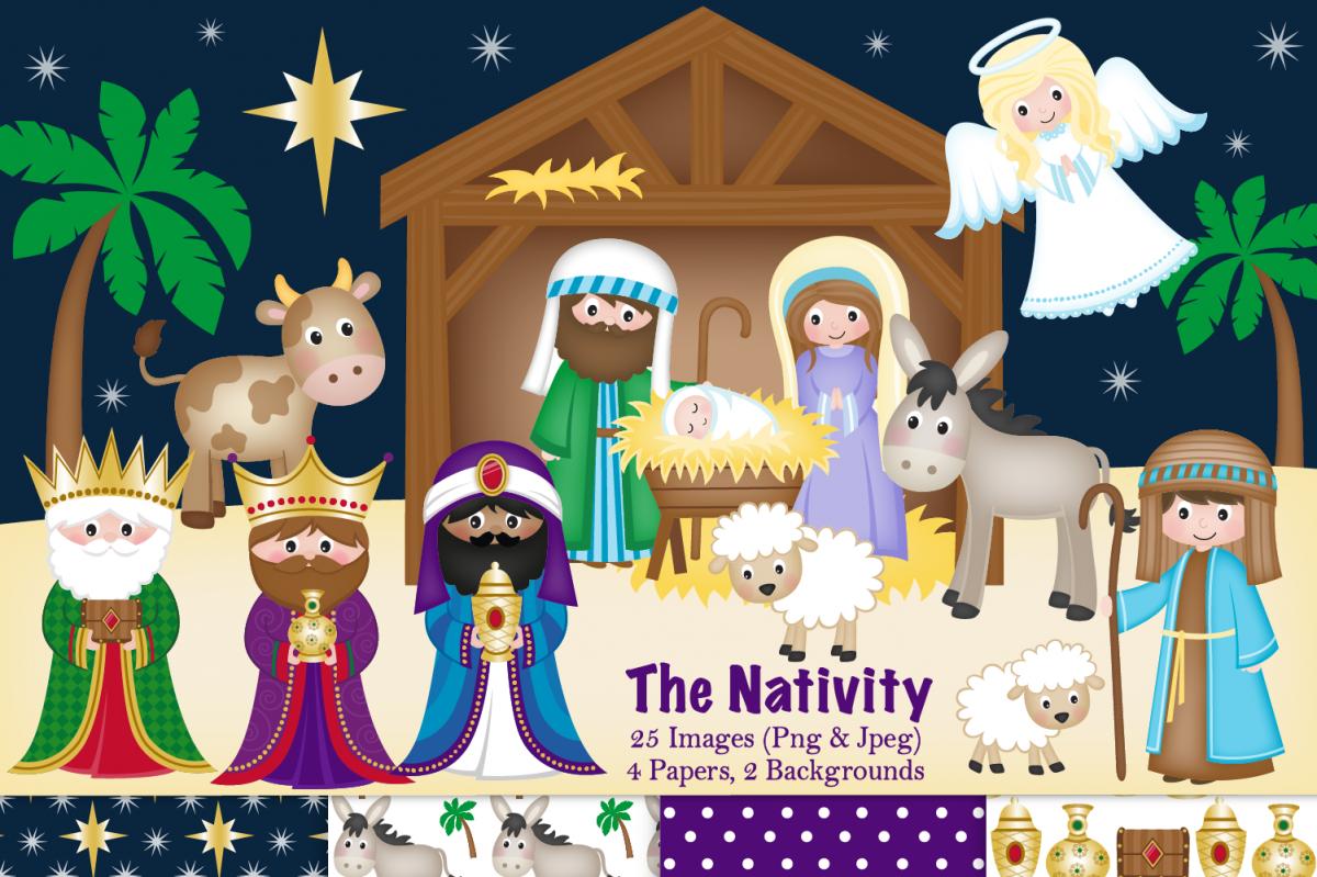 Clipart nativity scene svg free Nativity clipart, Christmas Nativity, Nativity Scene svg free