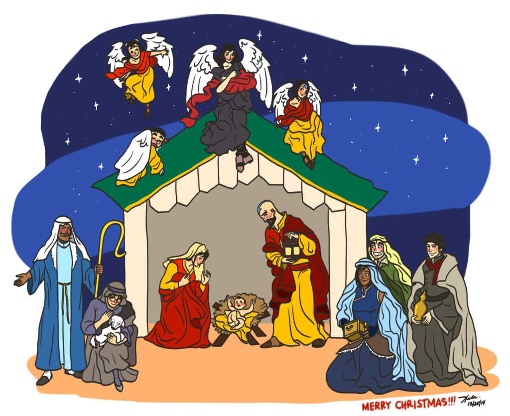 Nativity christmas clipart picture transparent download Nativity Scene by LoK by xelartworks on DeviantArt picture transparent download