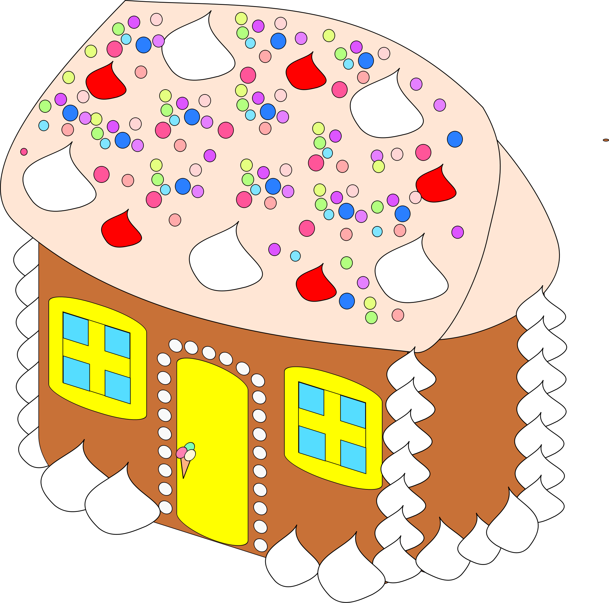 Wood house with chimney clipart graphic transparent library File:Sweet House.svg - Wikimedia Commons graphic transparent library