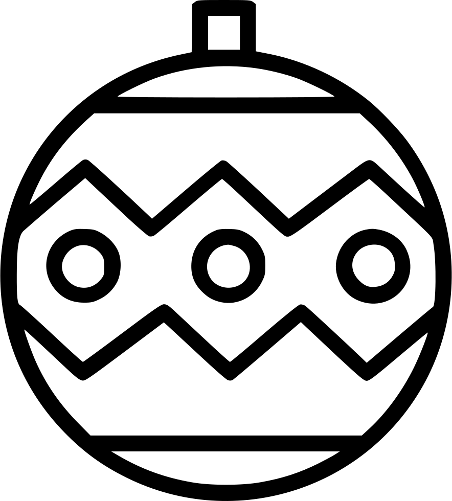 Christmas ornament black and white clipart image freeuse Decorated Christmas Ornament Svg Png Icon Free Download (#549896 ... image freeuse