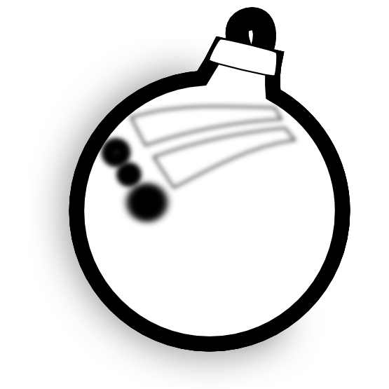 Christmas ornament black and white clipart image black and white stock Christmas Ornament Clipart Black And White | Clipart Panda - Free ... image black and white stock