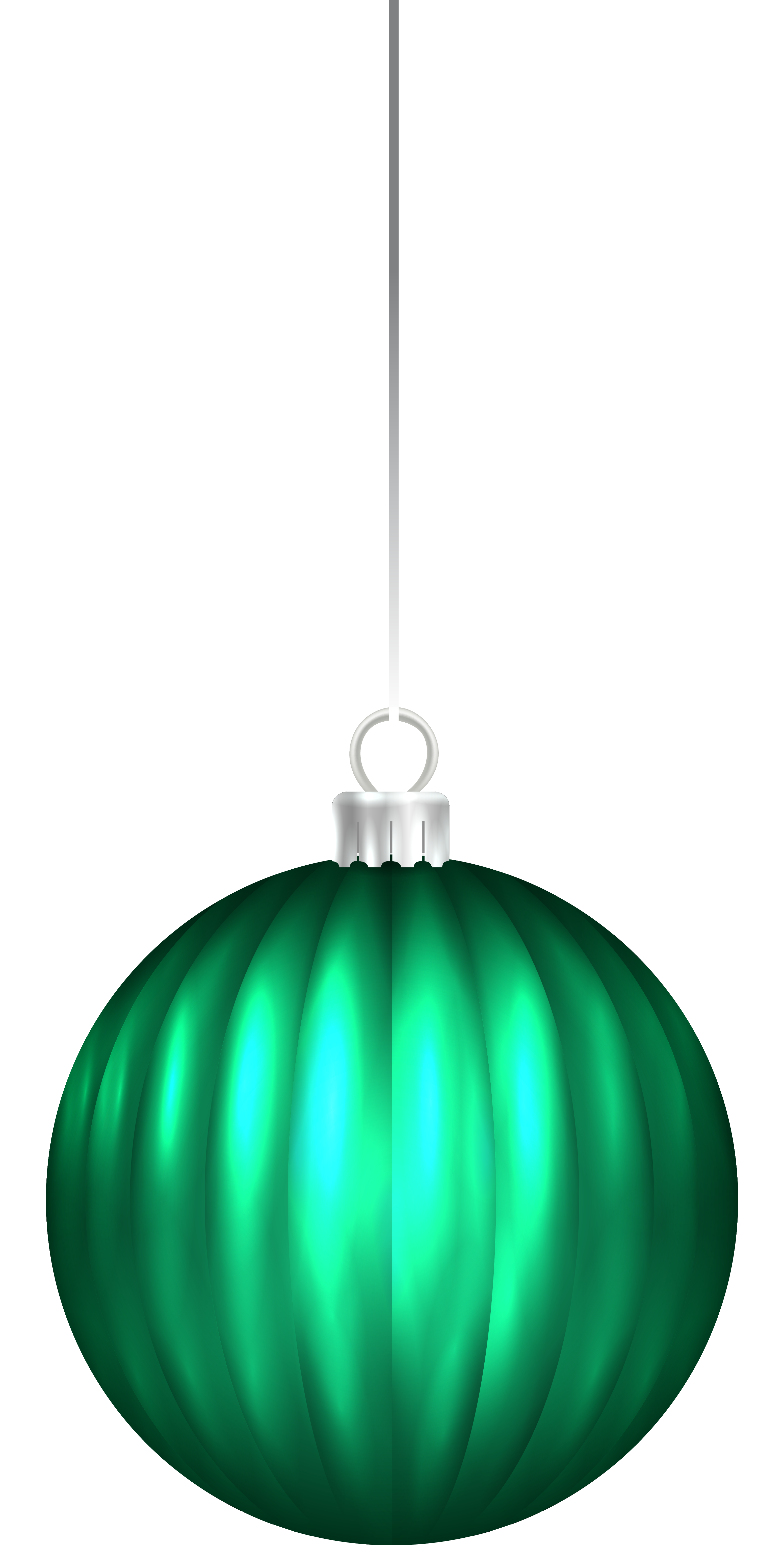 Green christmas ornaments clipart banner black and white download Green Christmas Ball Ornament PNG Clip Art Image | Gallery ... banner black and white download