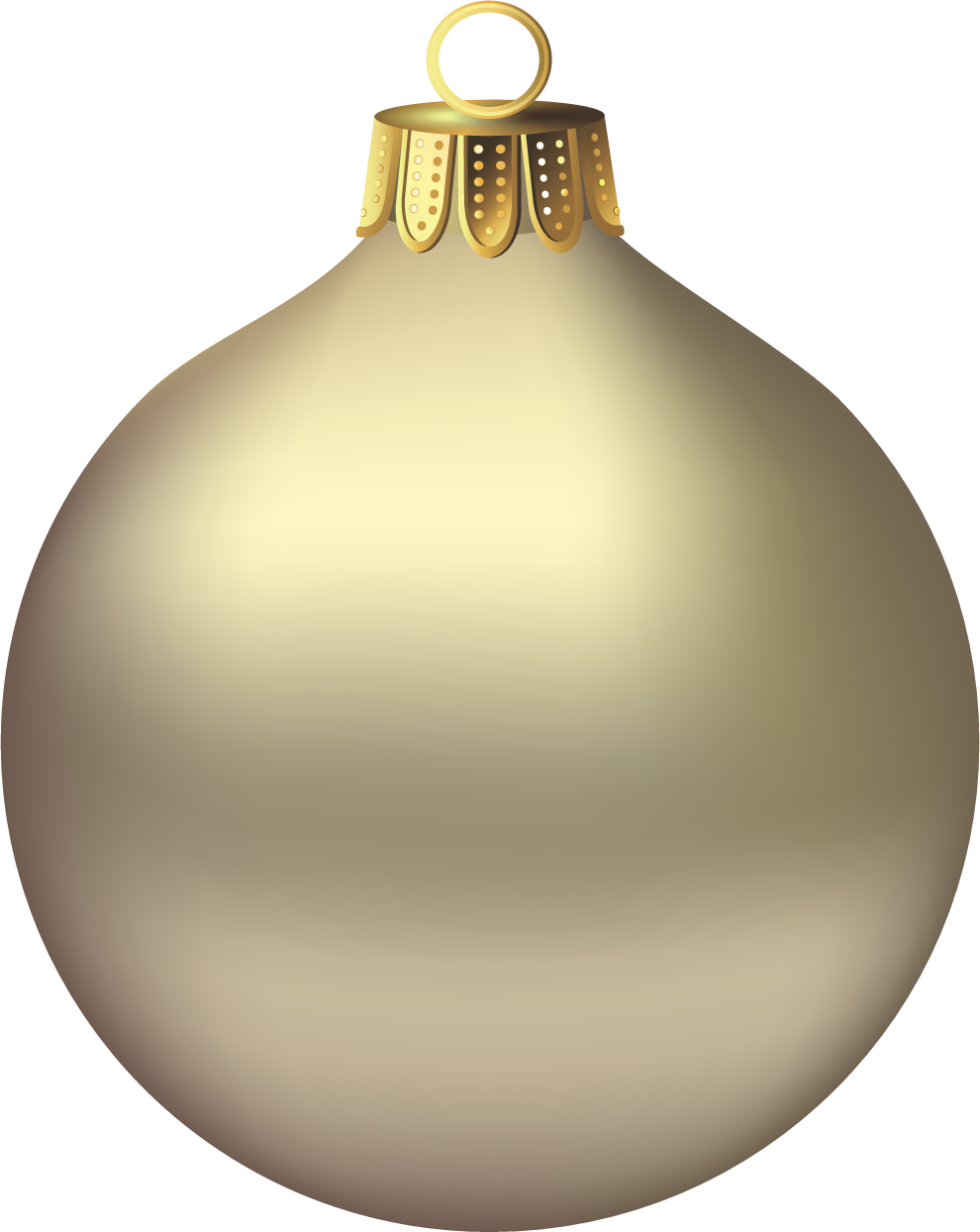 Gold christmas ornament clipart image library stock Transparent Christmas Gold Ornament Clipart | Gallery Yopriceville ... image library stock