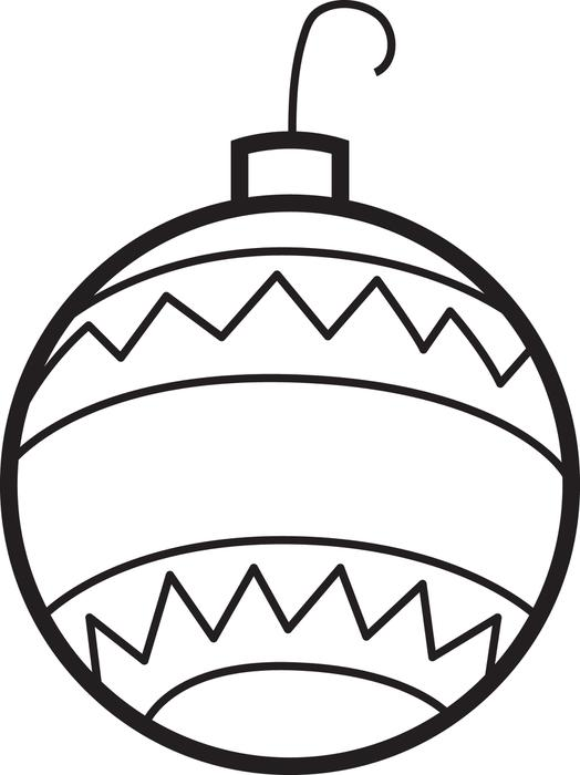 Christmas ornament clipart to color vector free stock Christmas Ornament Coloring Pages | Free download best Christmas ... vector free stock