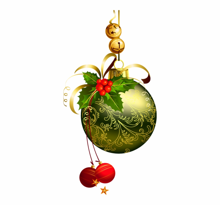 Christmas ornament clipart transparent background vector black and white stock Clip Royalty Free Download Green Christmas Ball With - Transparent ... vector black and white stock