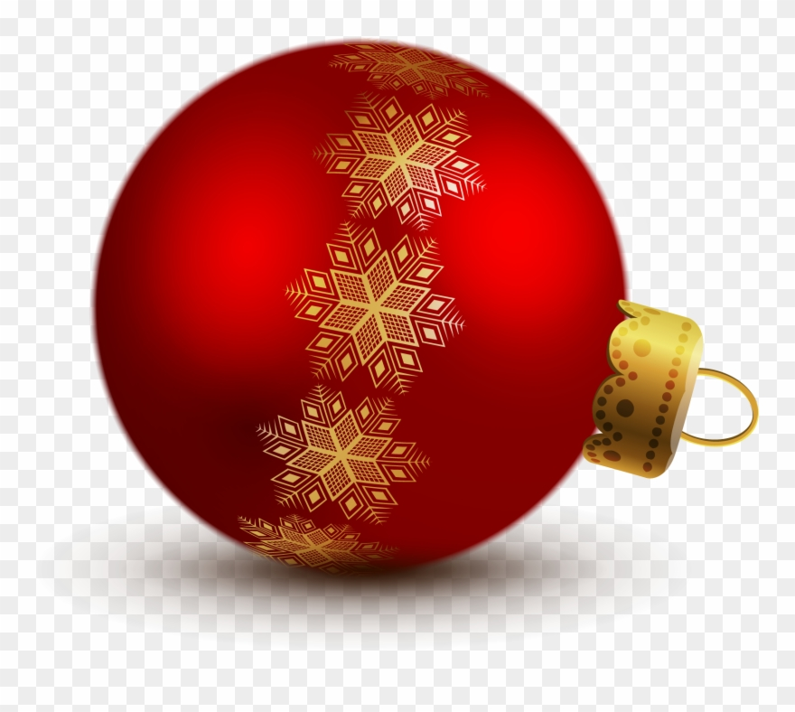 Christmas ornament clipart transparent background banner royalty free Transparent Red Christmas Ball Ornaments Clipart - Christmas ... banner royalty free