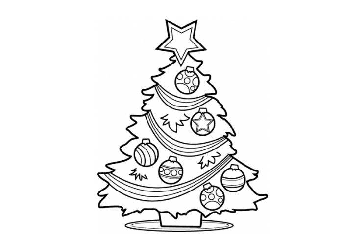 Christmas ornament set clipart black and white svg transparent library Christmas Ornament Line Drawing at PaintingValley.com | Explore ... svg transparent library