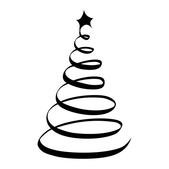 Christmas ornaments clipart black and white svg graphic free download Christmas Tree Ornament graphics design SVG DXF EPS Png Cdr Ai Pdf Vector  Art Clipart instant download Digital Cut Print Files T-Shirt Vinyl graphic free download