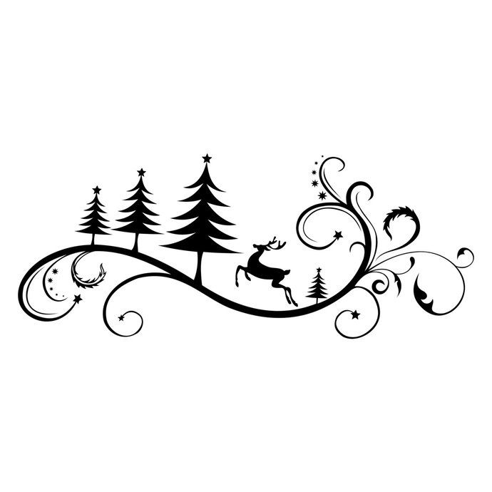 Christmas ornaments clipart black and white svg clipart transparent download Christmas Ornament Deer Tree graphics design SVG DXF EPS Png Cdr Ai ... clipart transparent download