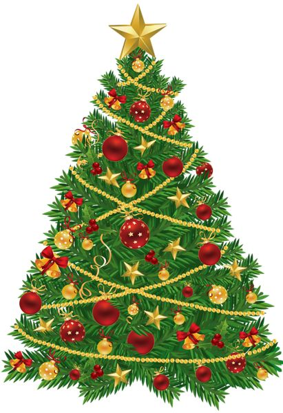 Christmas ornaments clipart jpeg. Large transparent tree with