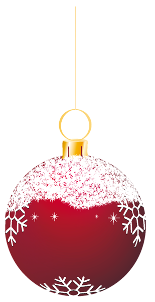 Christmas ornaments clipart printables free vector black and white library Transparent Red Snowy Christmas Ball Ornament Clipart | gif veci ... vector black and white library