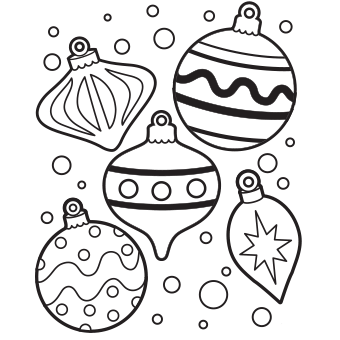 Christmas ornaments clipart printables free download Color ornaments clipart - ClipartFest download