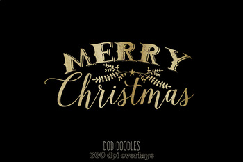 Merry christmas overlay clipart image transparent Gold Merry Christmas Clipart, Christmas Overlays image transparent