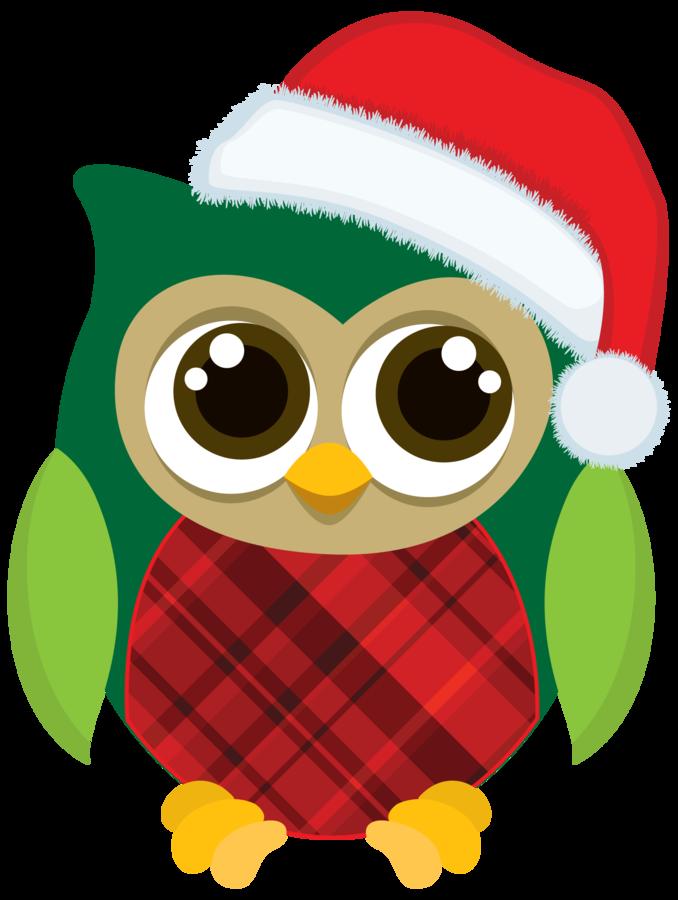 Owls minus clip pinterest. Cute christmas owl clipart