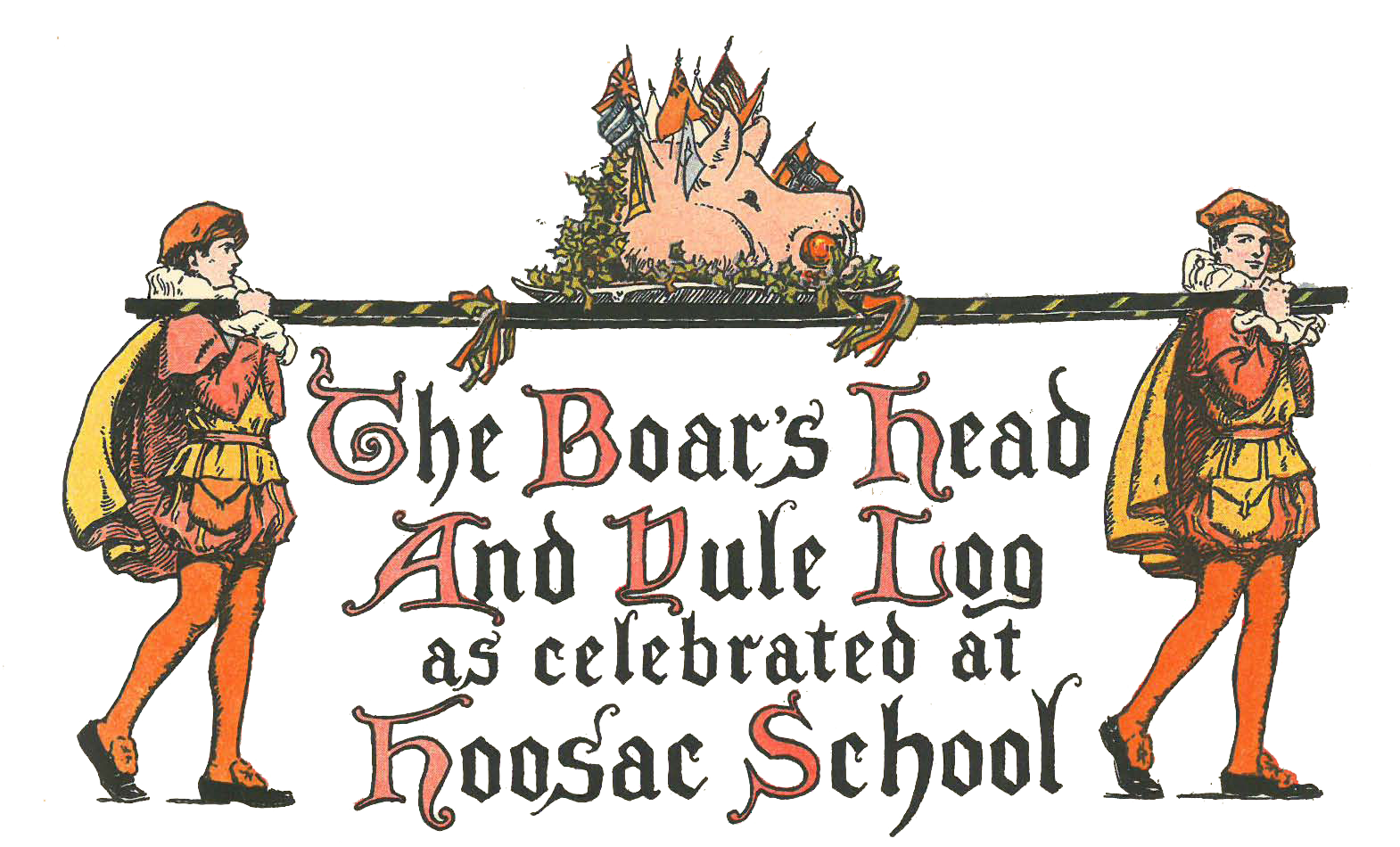 Christmas pageant clipart royalty free stock The Boar's Head and Yule Log - Hoosac royalty free stock