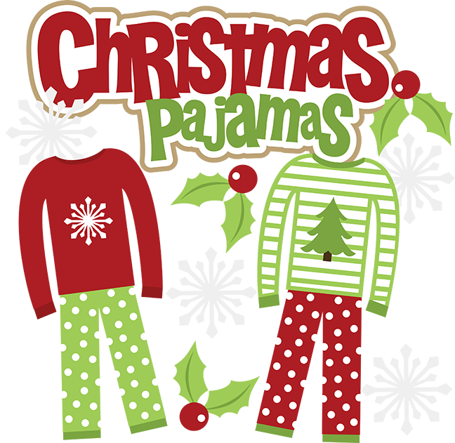 Christmas pajamas clipart banner black and white Mamajenna says it: First Annual Family Christmas Pajama Challenge! banner black and white