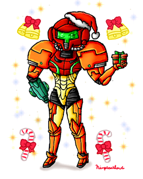 Christmas pajama clipart clip royalty free library AT- Power Suit Samus christmas by ninpeachlover on DeviantArt clip royalty free library