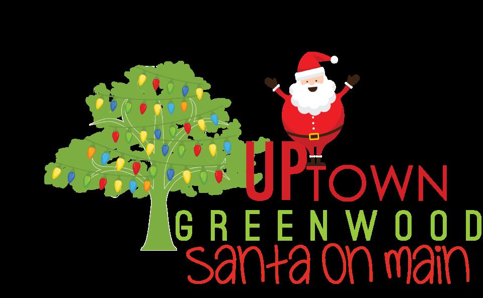 Christmas pajama party clipart jpg black and white library Santa on Main | Uptown Greenwood jpg black and white library