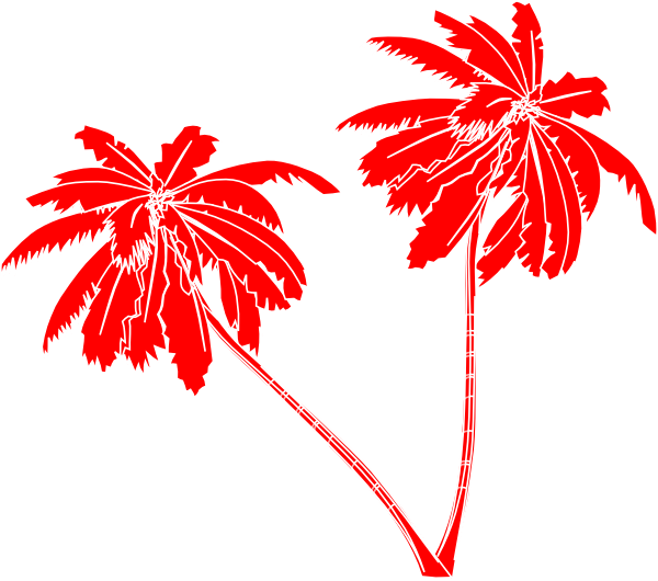 Palm tree silhouette clipart no background graphic Red And White Palm Trees Clip Art at Clker.com - vector clip art ... graphic