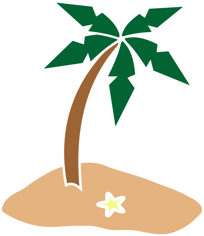 Christmas palm tree clipart vector black and white library Palm Tree Island Clipart | Clipart Panda - Free Clipart Images vector black and white library