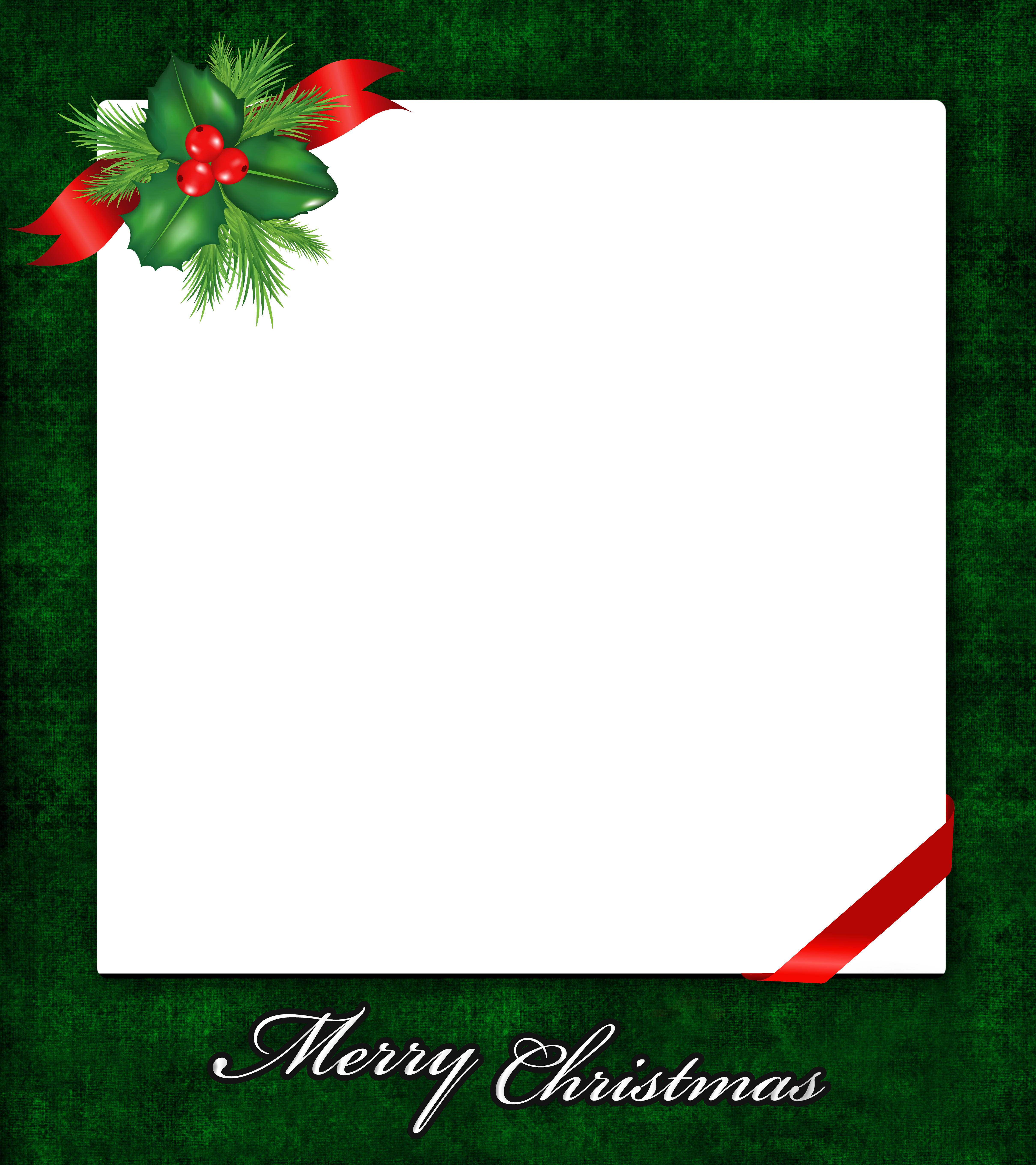 Christmas paper clipart vector download Christmas PNG Frame with Mistletoe | Gallery Yopriceville - High ... vector download