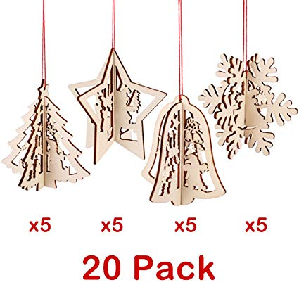 Christmas party bus clipart clipart library PartyBus 3D Wooden Christmas Ornaments 20 Pack, Unfinished Wood Cutouts for  Holiday Card Decoration, Xmas Gift Tags for Kids Art & Craft DIY, String ... clipart library