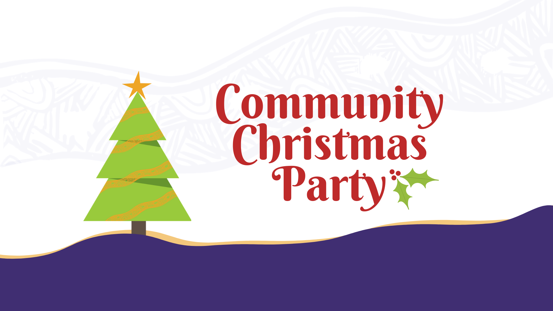 Christmas party bus clipart banner stock Community Christmas Party - Yerin banner stock