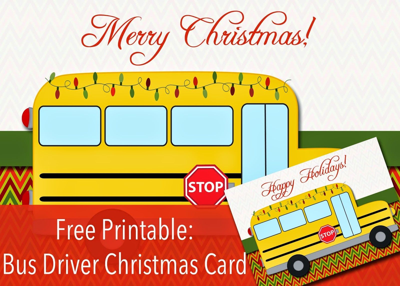 Christmas party bus clipart clipart library Free Printable: Bus Driver Christmas or Happy Holidays Card | Bus ... clipart library