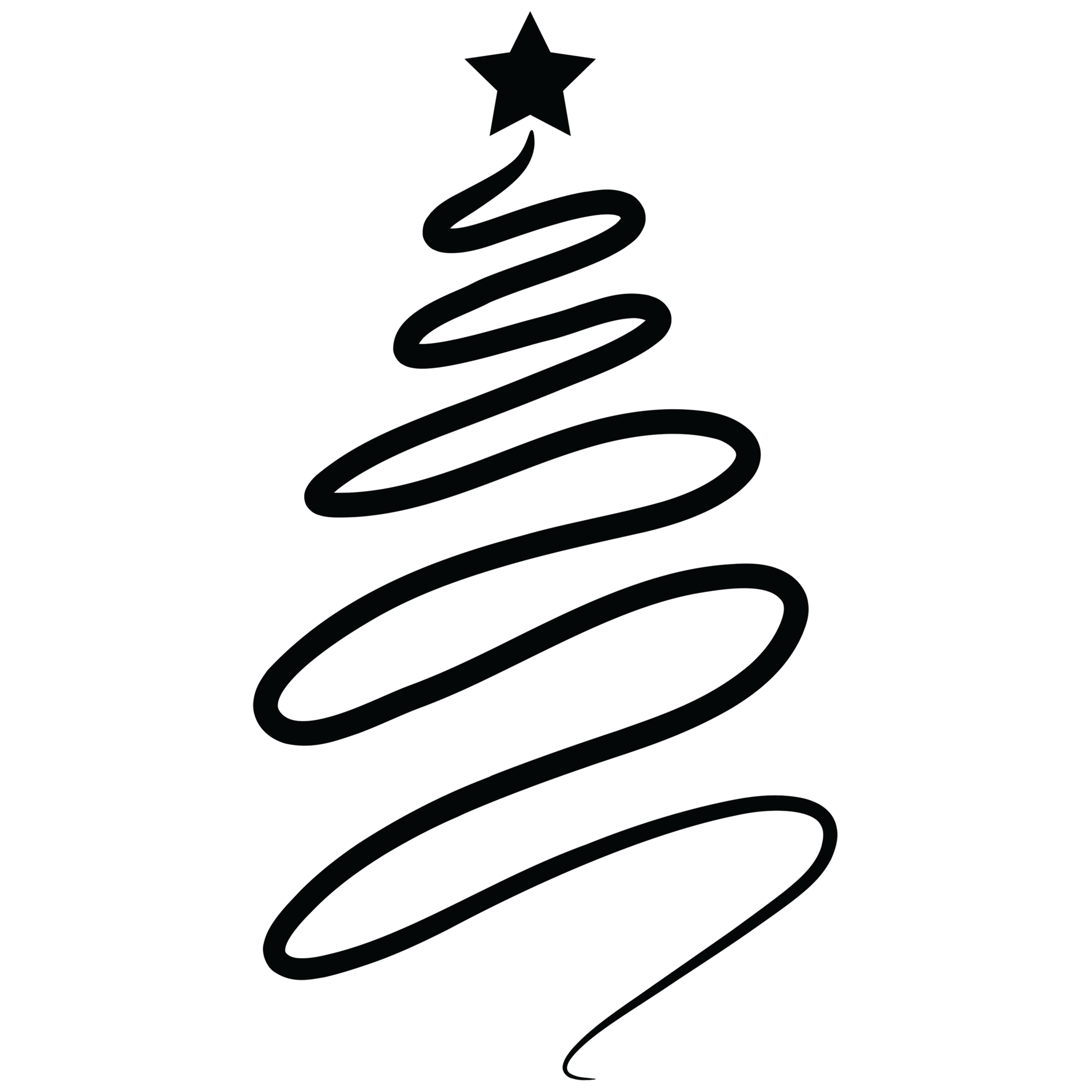 Christmas party clipart black and white jpg black and white library Christmas Swirl Silhouette Clipart jpg black and white library