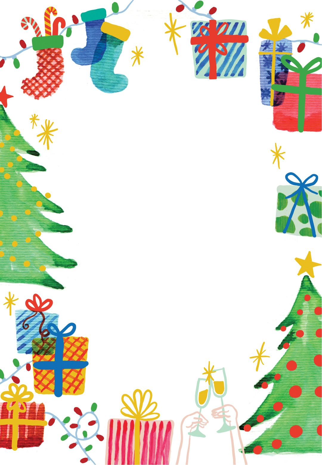 Christmas party invite clipart clipart free stock Best Holiday Ever - Free Printable Christmas Invitation Template ... clipart free stock