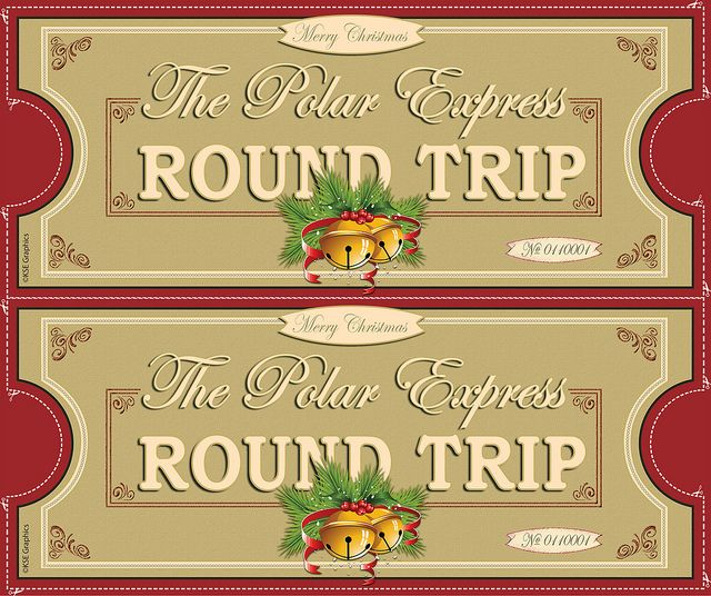 Christmas party ticket clipart svg download Polar Express tickets FRONT 2up RED | teacher stuff | Polar express ... svg download