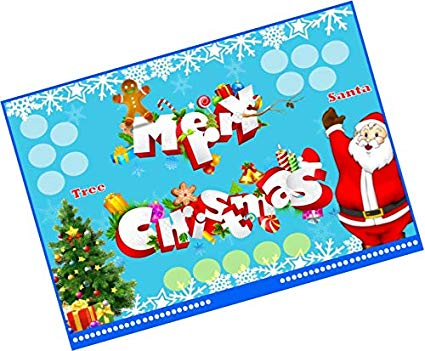 Christmas party ticket clipart clipart royalty free download PartyStuff Christmas Theme Tambola Housie Tickets (Multicolour)-24 ... clipart royalty free download