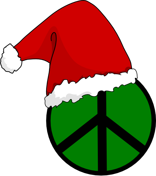 Christmas sign clipart vector royalty free Santa Hat Peace Sign Clip Art at Clker.com - vector clip art online ... vector royalty free
