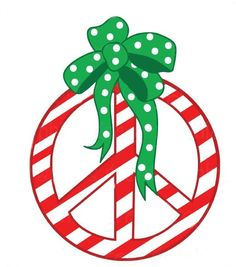 Christmas peace sign clipart banner library stock Christmas Peace Sign | Free download best Christmas Peace Sign on ... banner library stock