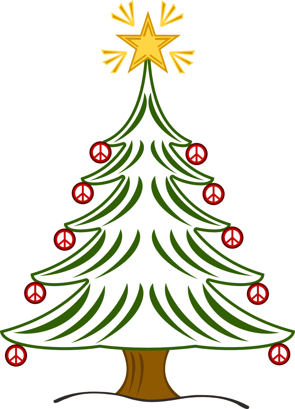Christmas peace sign clipart free library christmas peace sign clip art | tree xmas christmas peace symbol ... free library