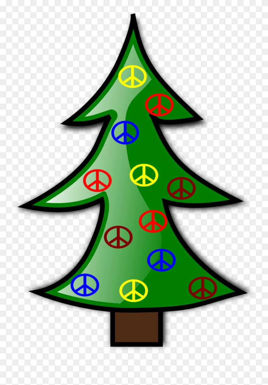 Christmas peace sign clipart image royalty free Tree Christmas 8 Xmas Peace Symbol Sign Christmas Clip - Christmas ... image royalty free