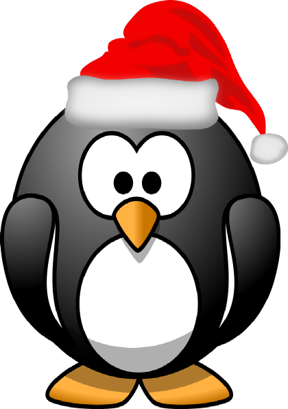 Christmas penguin clipart black and white clip library stock Christmas Penguin Clipart Black And White | Clipart Panda - Free ... clip library stock