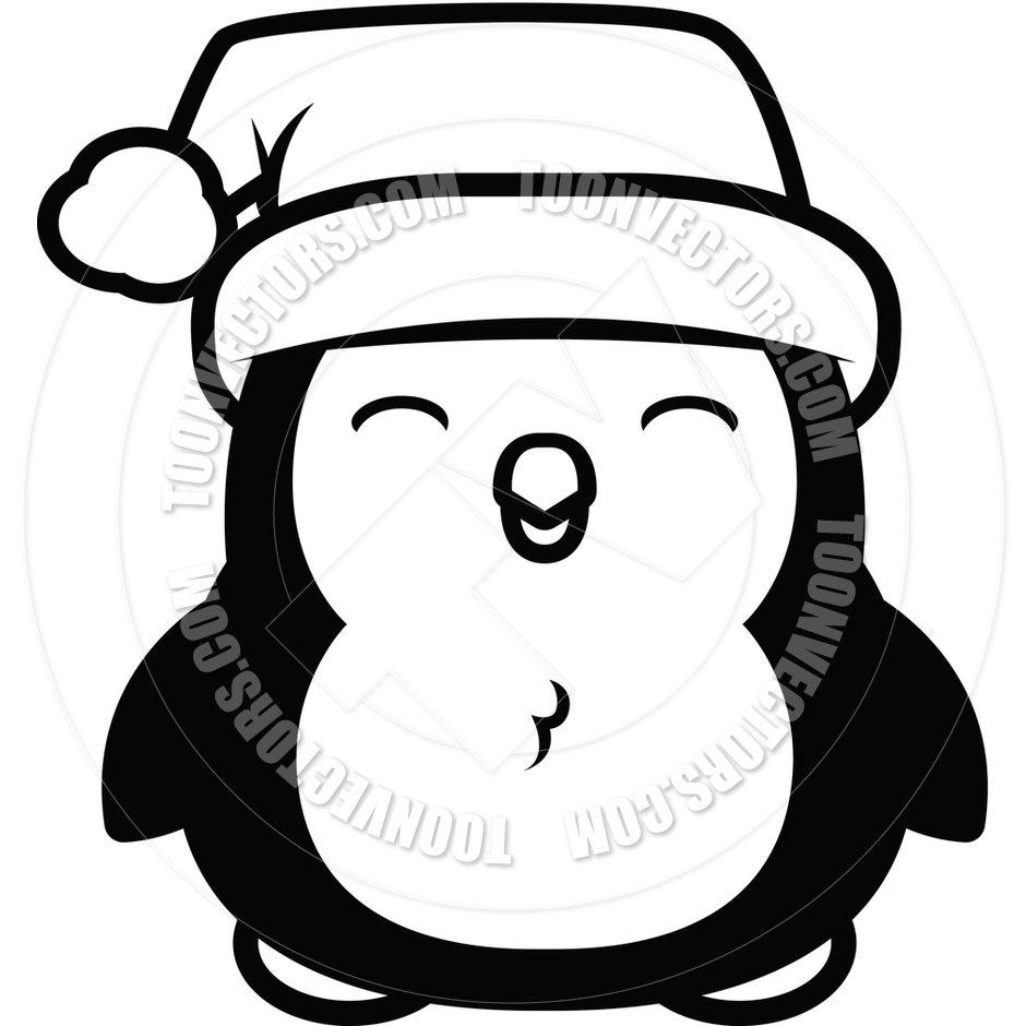 Christmas penguin clipart black and white picture transparent Christmas Penguin Clipart Black And White | Clipart Panda - Free ... picture transparent