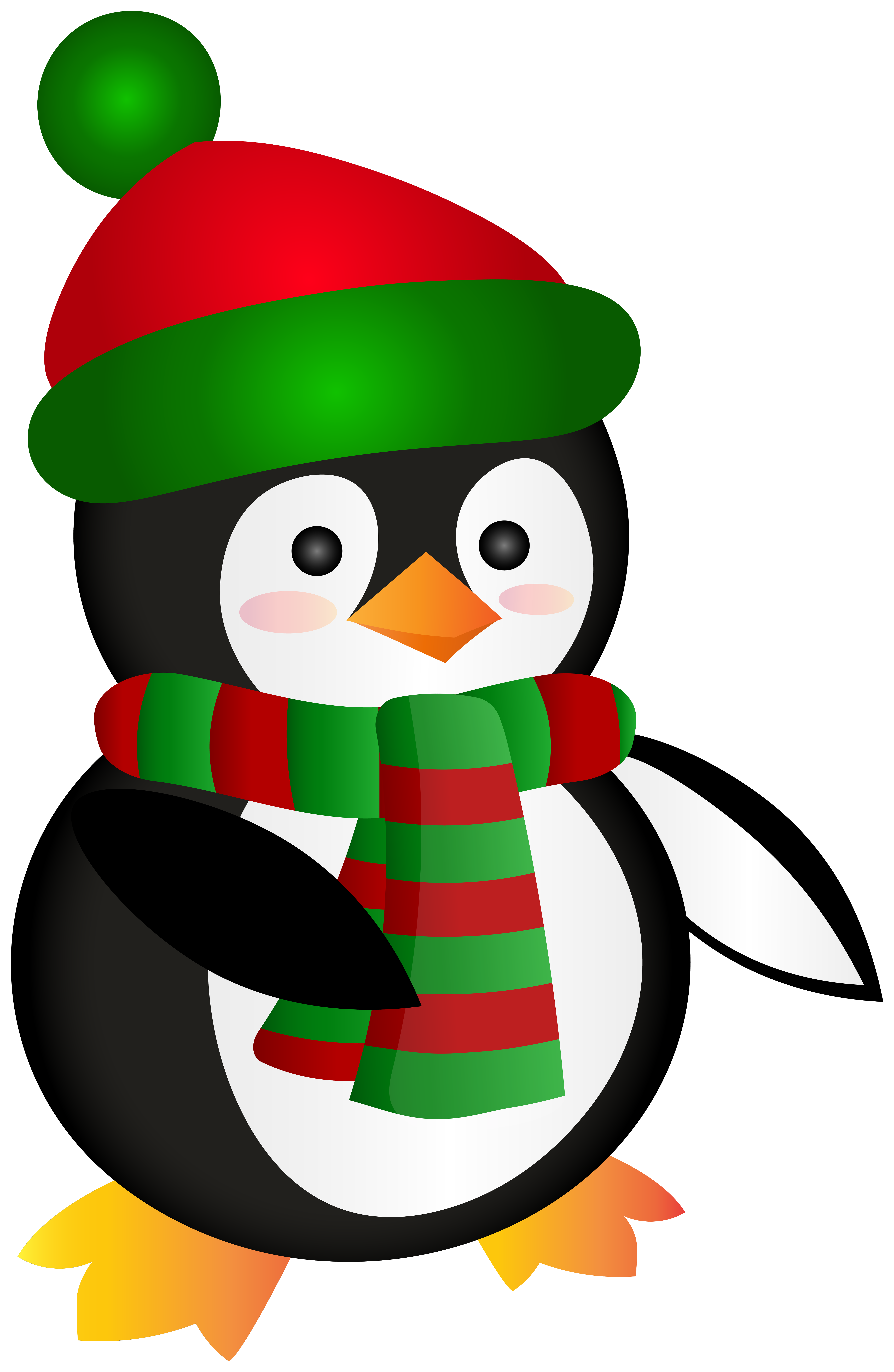 Christmas penguin images clipart png black and white Cute Christmas Penguin Clip Art Image | Gallery Yopriceville - High ... png black and white